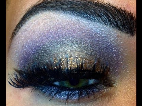 GALAXY EYE MAKEUP TUTORIAL - YouTube