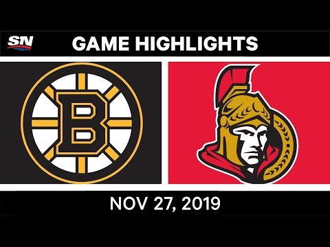 NHL Highlights | Bruins Vs. Senators – Nov. 27, 2019