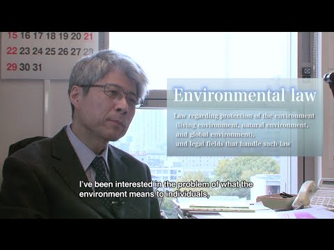 What environmental law means to individuals, and the relationship between environment and economy