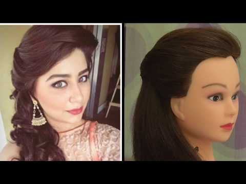 EASY SIDE PUFF HAIRSTYLE INSPIRED BY ADITI BHATIYA \ EVERYDAY HAIRSTYLE FOR GIRLS || thumbnail