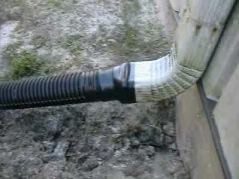 Drainage Gutter Downspouts Trenching For Yard Drainage
