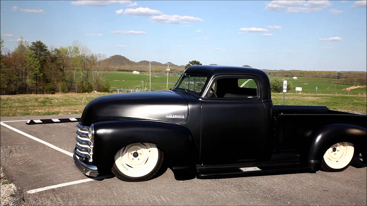 Visit traditionalhotrodmotors com peacemaker 1947 chopped top air bagged chevy 3100 pickup youtube