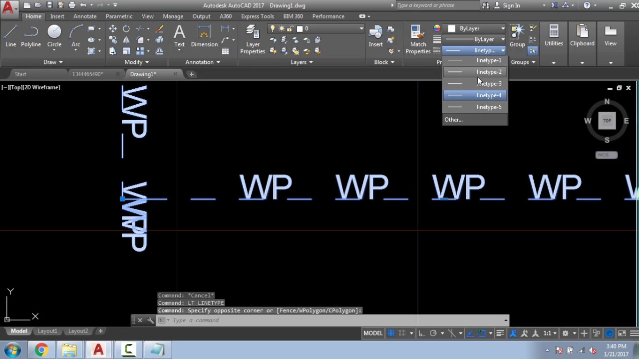 HOW TO CREATE CUSTOM LINETYPE IN AUTOCAD AND MODIFY IT