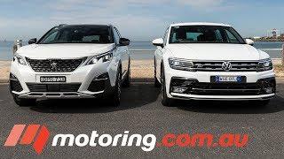 2018 Volkswagen Tiguan v Peugeot 3008 Comparison | motoring.com.au