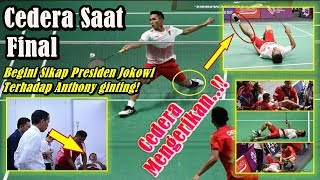 Cedera Di Final Asian Games 2018, Begini Sikap Presiden Jokowi Terhadap Anthony Ginting!