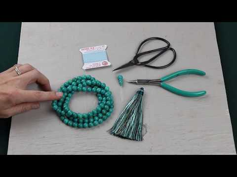 108 Bead Knotted Mala Necklace