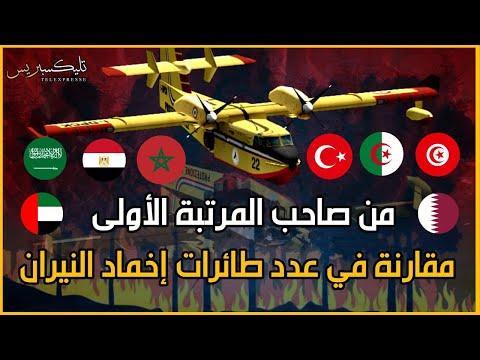 مقارنة عدد طائرات إخماد النيران بالدول العربية و المسلمة | المغرب الجزائر مصر تركيا السعودية
