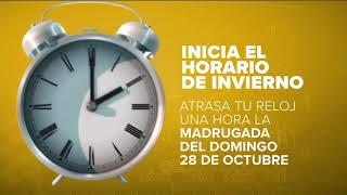 Este domingo 28 de octubre inicia el horario de invierno   Noticias con Francisco Zea