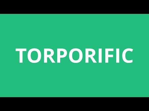 How To Pronounce Torporific - Pronunciation Academy