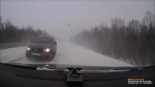 Нежданчик в снежной вьюге. М8. Северодвинк - Архангельск.