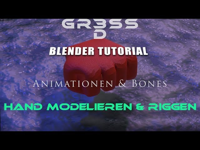 Blender 2.8 Tutorial Hand modeling and Hand rigging  (ENGL.SUB)