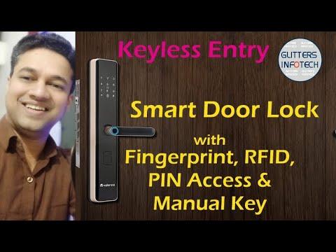 Valencia- Hola Smart Door Lock with Fingerprint, RFID, PIN Access & Manual Key Access