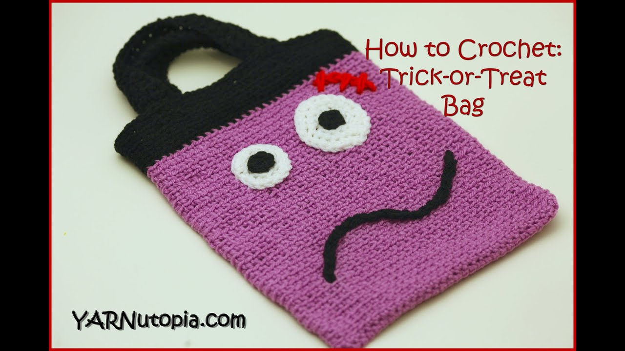 Free Crochet Patterns For Trick Or Treat Bags : How to Crochet Trick or Treat Bag - YouTube