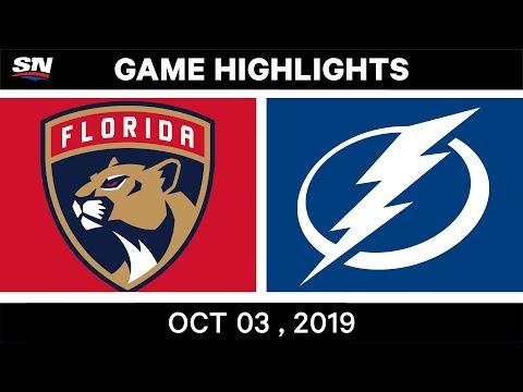 NHL Highlights   Panthers Vs. Lightning - Oct. 03, 2019