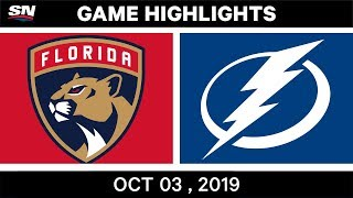 florida Panthers vs Tampa Bay Lightning  Oct.03, 2019  Game Highlights  NHL 2019/20  Обзор матча