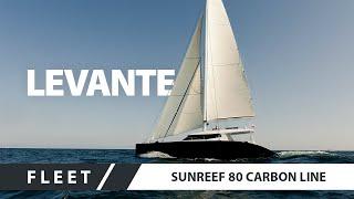 sailing catamaran superyacht sunreef 80 carbon line levante