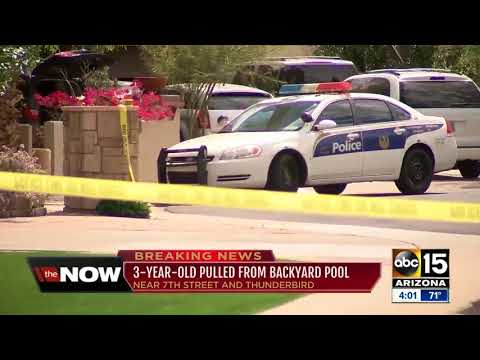 3-year-old pulled from backyard pool in Phoenix