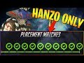Winning all 10 placement matches with only Hanzo!! - Overwatch