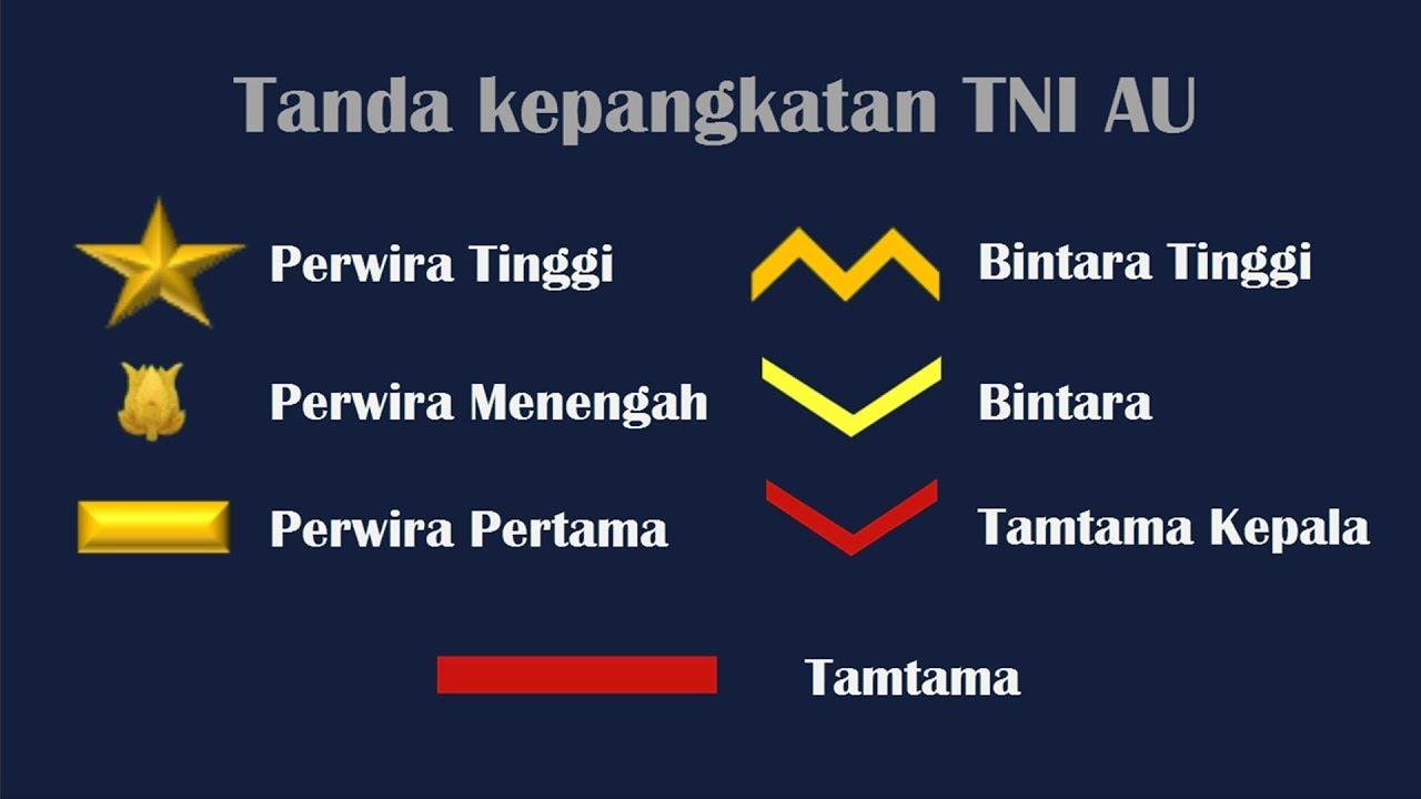 Download Urutan Pangkat Tentara Nasional Indonesia Angkatan Udara TNI AU