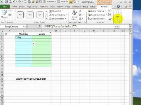 Fix Combo Box Sizing in Excel 2010 – Contextures Blog
