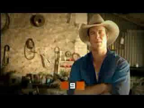 Aaron Jeffery in McLeod's Daughters ad