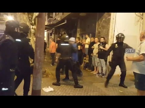 Europa League: Fans arrested over Leicester City v Napoli violence
