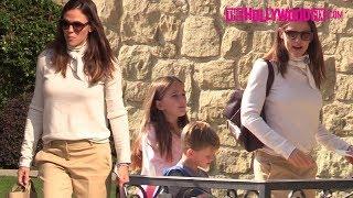 Jennifer Garner Takes The Kids To Church While Ben Affleck Heads Back To Rehab In Malibu 11.11.18
