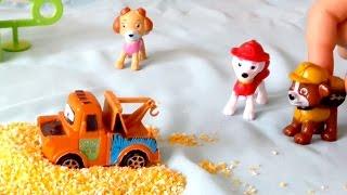 Щенячий Патруль и машинка. Видео с игрушками для детей