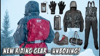 Unboxing Our Awesome New Finntrail Waterproof Riding Gear! Hip Waders, Jackets, Gloves and more!
