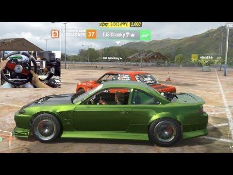 Forza Horizon 4 - ONLINE Formula Drift Cruise Exploring Train Yard (Fanatec Wheel) | SLAPTrain