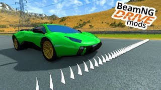 SPIKES im BODEN VS. SUPERSPORTWAGEN - BeamNG Mods #07 [Deutsch/HD]