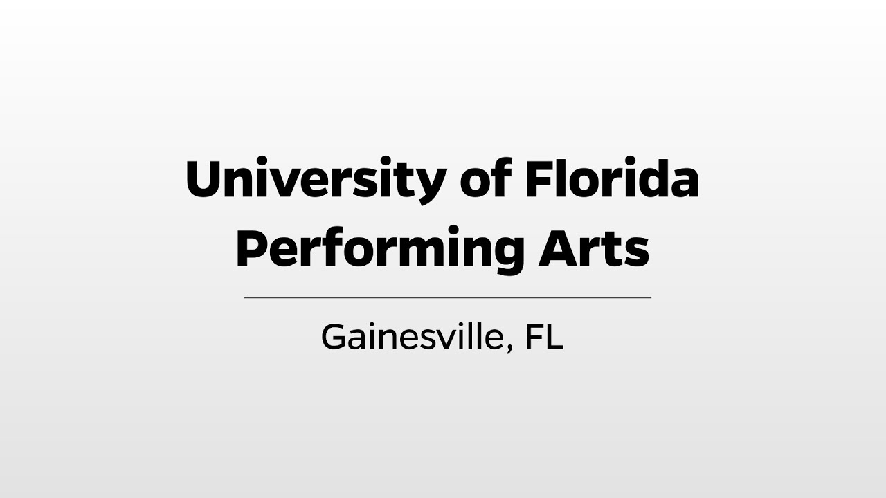 Download UF Performing Arts - WUFT's Greater Good