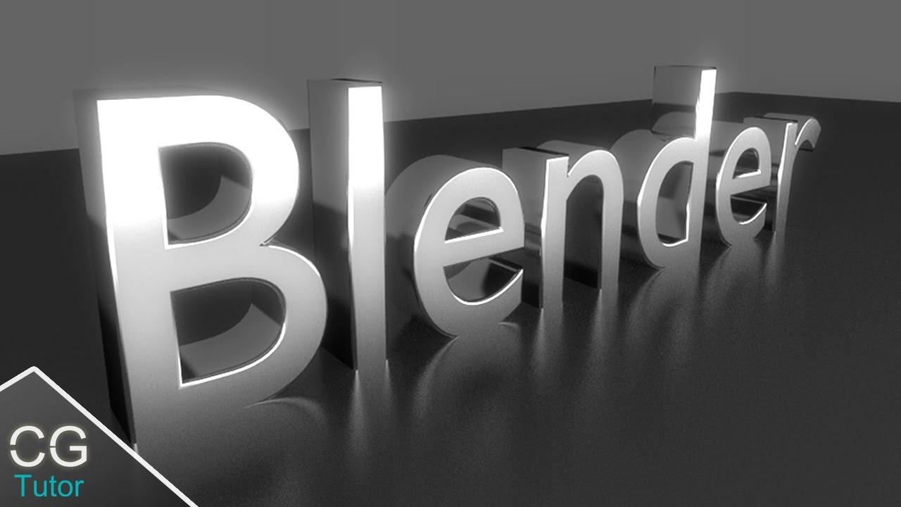 How To Make Letters On Blender