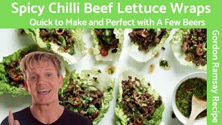 Gordon Ramsay Chilli Beef Lettuce Wraps
