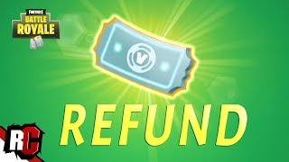 How to REFUND Items in Fortnite WEEK 5 (Return Purchased Skins / Battle Royal + Save the World)