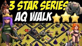3 Star Series - AQ Walk + Govaho vs Max TH9 War Base - Clash of Clans