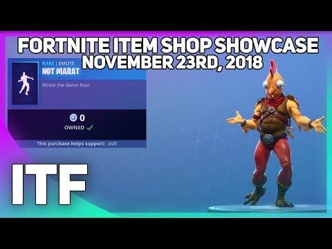 Fortnite Item Shop *NEW AND FREE* HOT MARAT EMOTE! [November 23rd, 2018] (Fortnite Battle Royale)