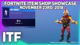 Fortnite Item Shop *NEW AND FREE* HOT MARAT EMOTE! [November 23rd, 2018] (Fortnite Battle Royale)