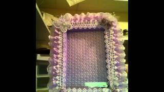 An altered picture frame for a baby girl Thumbnail