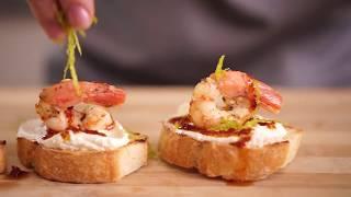 Брускета с креветкой - простой рецепт приготовления