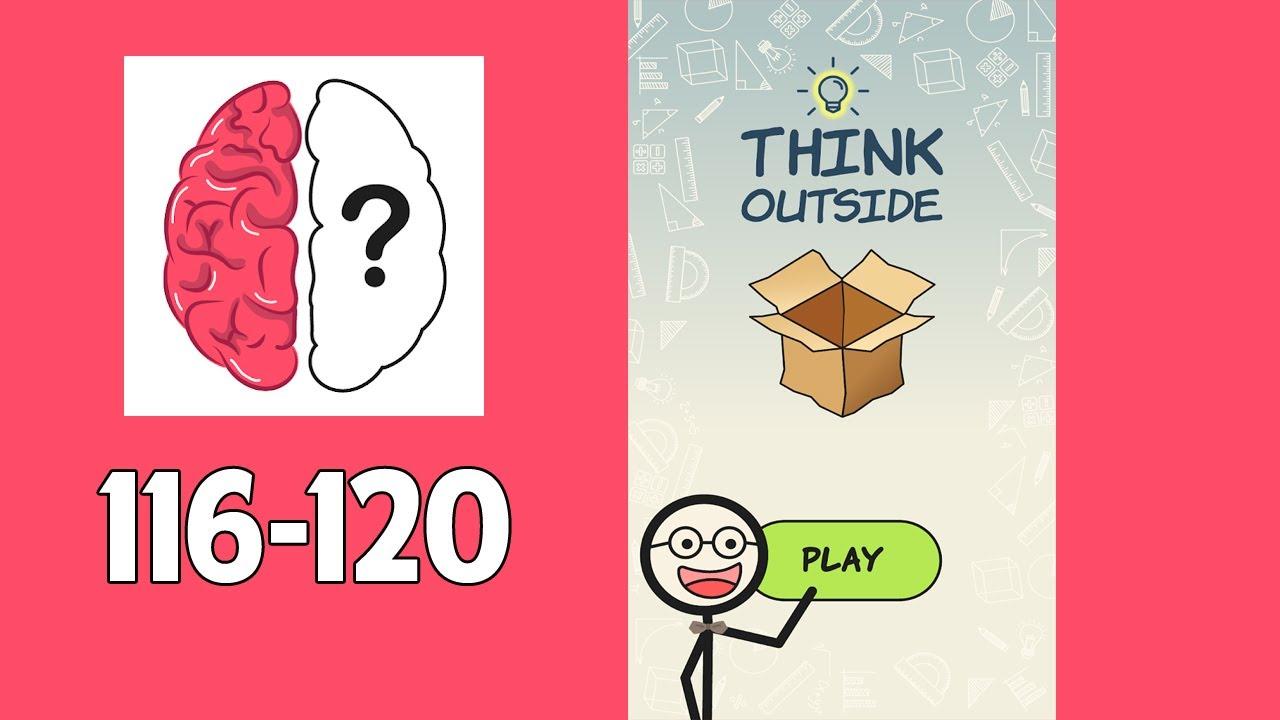 Think Outside Brain Game Level 116 117 118 119 120 Youtube