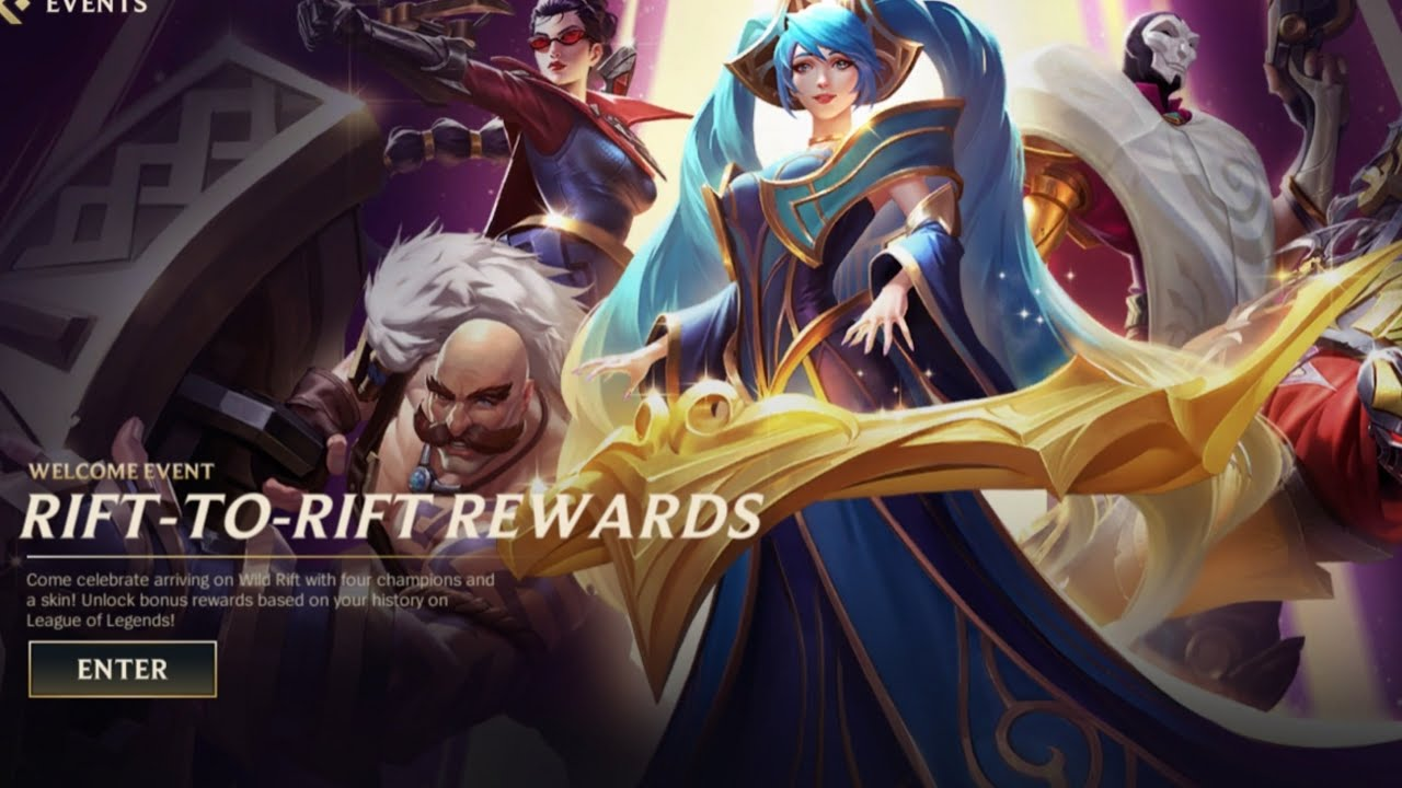 WILD RIFT NEW EVENT - RIFT TO RIFT REWARDS (5 games=Epic Skin) - YouTube