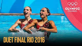 Artistic Swimming Duet Final - Free Routine | Rio 2016 Replays
