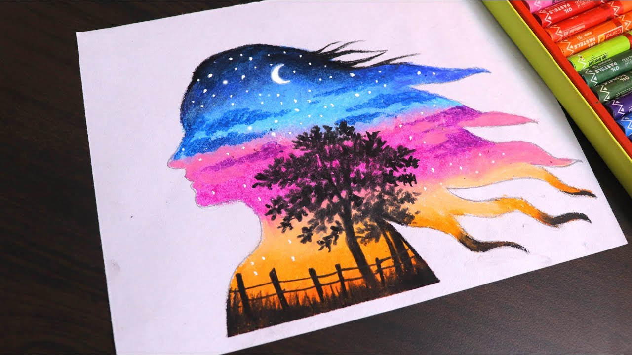 Oil pastel drawing for beginners | Beautiful Double ...