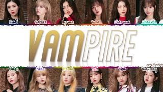 IZ*ONE (아이즈원) - 'VAMPIRE' Lyrics [Color Coded_Kan_Rom_Eng]
