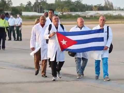 First Cohort of Cuban Medical Professionals Touch Down in Belize