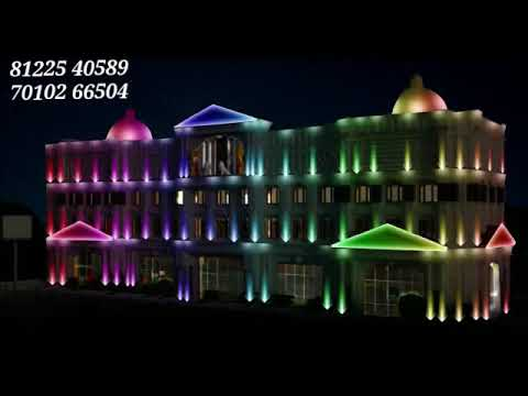Building Elevation LED Lighting | Convention center Wedding Hall Facade Design India 91 81225 40589
