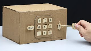 Build a Safe with Combination Number Lock and Key from Cardboard