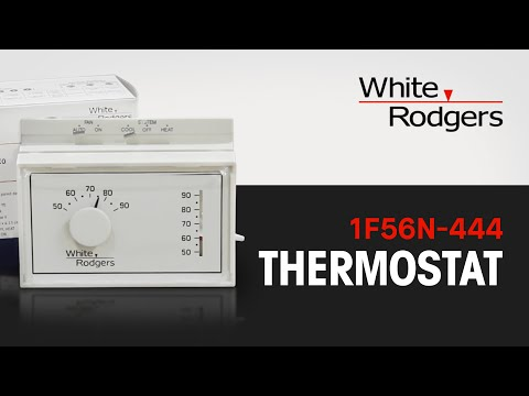 The White Rodgers 1F56N-444 Thermostat - YouTube