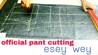 Official pant cutting/ agents official pant cutting ( DIY) esey wey by smart fashion look